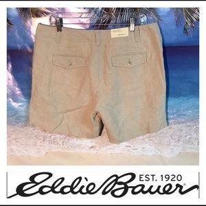 🐠 Eddie Bauer Linen Khaki Shorts 🐠